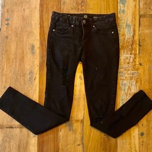Size 3 SO Distressed Skinny Jeans
